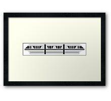 MONORAIL - SILVER Framed Print