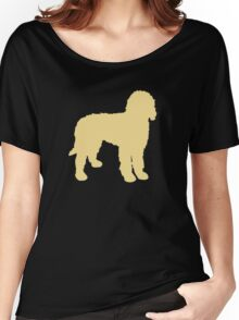 Golden Doodle Silhouette Women's Relaxed Fit T-Shirt