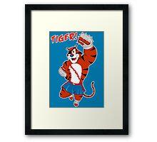 Tiger uppercut! Framed Print