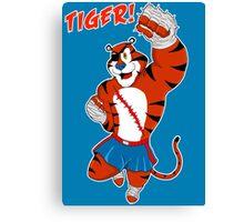 Tiger uppercut! Canvas Print