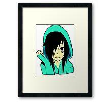 Anime Emo Girl Cartoon Framed Print