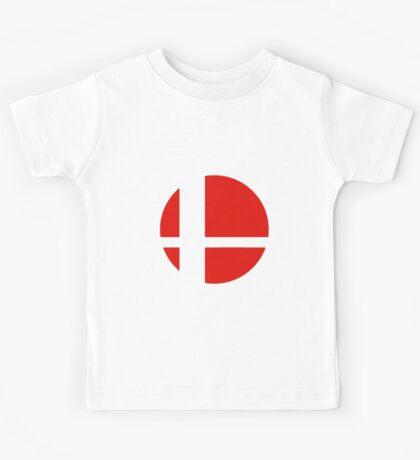 Super Smash Bros red logo Kids Tee