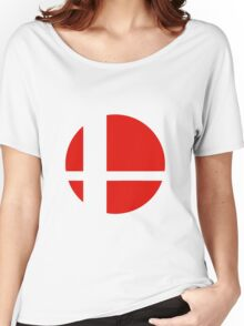 Super Smash Bros red logo Women's Relaxed Fit T-Shirt