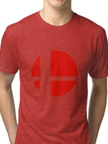 Super Smash Bros red logo Tri-blend T-Shirt