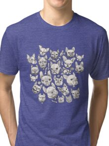 FRENCHIE FEVER Tri-blend T-Shirt