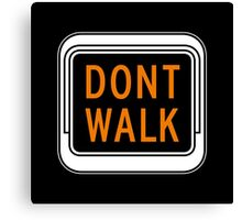 Don't Walk, Traffic Light, USA Canvas Print