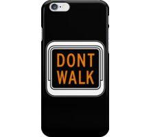 Don't Walk, Traffic Light, USA iPhone Case/Skin