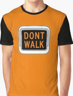 Don't Walk, Traffic Light, USA Graphic T-Shirt