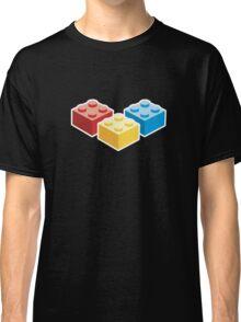 3 Bricks on dark background Classic T-Shirt