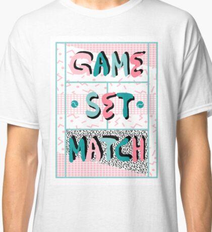 Cha-Ching - modern neon memphis retro throwback style country club tennis racquet baller athlete star player Classic T-Shirt