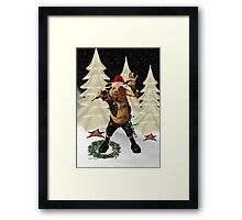 Christmas Pork ?? .. fun fantasy Framed Print