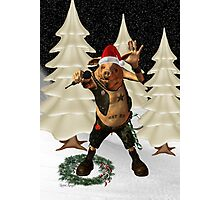 Christmas Pork ?? .. fun fantasy Photographic Print