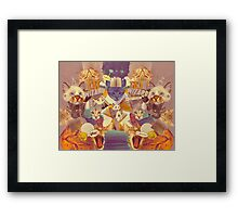 Cats n Books n Books n Cats Framed Print