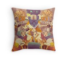 Cats n Books n Books n Cats Throw Pillow