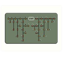 Morse code decoder Art Print