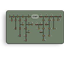 Morse code decoder Canvas Print