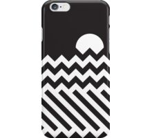 Fence, waves and sunset iPhone Case/Skin