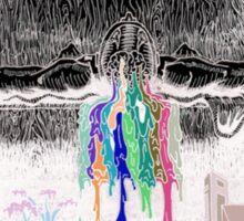 Inverted colour self titled album Sticker