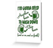 St Patricks Day Beer Drinking Humor Greeting Card
