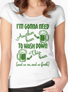 St Patricks Day Beer Drinking Humor Women's Fitted Scoop T-Shirt