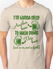 St Patricks Day Beer Drinking Humor Unisex T-Shirt