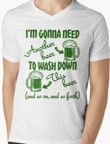 St Patricks Day Beer Drinking Humor Mens V-Neck T-Shirt