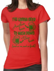 St Patricks Day Beer Drinking Humor Womens Fitted T-Shirt
