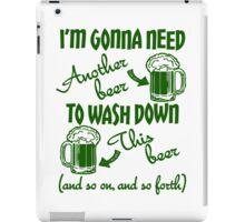St Patricks Day Beer Drinking Humor iPad Case/Skin