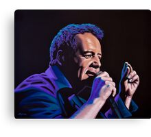 Jim Kerr of The Simple Minds Painting Canvas Print