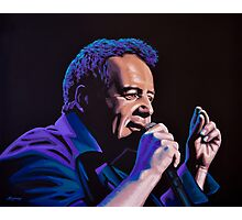 Jim Kerr of The Simple Minds Painting Photographic Print