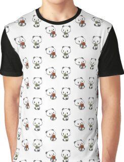 Baby Panda Stickers Graphic T-Shirt