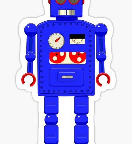 Retro vintage toy robot  Sticker