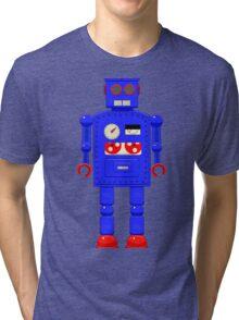 Retro vintage toy robot  Tri-blend T-Shirt