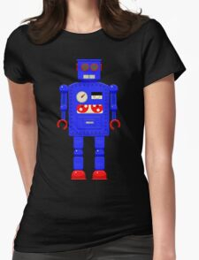 Retro vintage toy robot  Womens Fitted T-Shirt