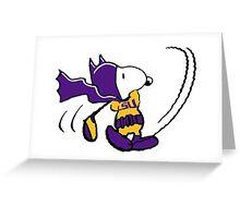 BatSnoopy Playing Golf with LSU Tee Greeting Card