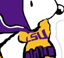 BatSnoopy Playing Golf with LSU Tee Sticker