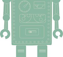 Retro vintage toy robot  by UDDesign
