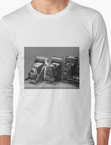 Vintage cameras photography design Long Sleeve T-Shirt
