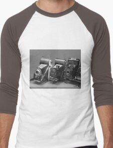 Vintage cameras photography design Men's Baseball ¾ T-Shirt