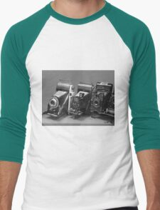 Vintage cameras photography design Men's Baseball ¾ T-Shirt