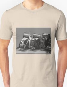 Vintage cameras photography design Unisex T-Shirt