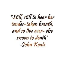 Bright Star- John Keats by starwhale97