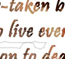 Bright Star- John Keats Sticker