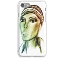 Lady Mannequin Green iPhone Case/Skin