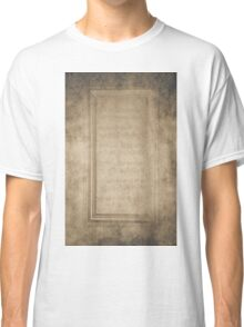 Vintage Frame With Notes Classic T-Shirt