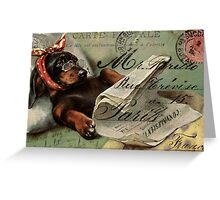 Darling Dachshund Get Well Wishes Greeting Card