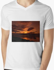 Auburn Skies Mens V-Neck T-Shirt