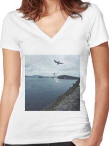 Dingle, Ireland Women's Fitted V-Neck T-Shirt