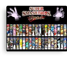 Super Smash Bros Brawl all characters Canvas Print