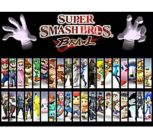 Smash Bros all characters Photographic Print
